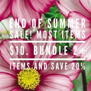 End of Summer Clear out Sale!!!